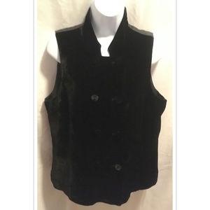 Size Medium J. Jill Velvet Vest Black